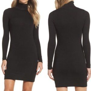 FRENCH CONNECTION Turtleneck Sweater Dress Black M